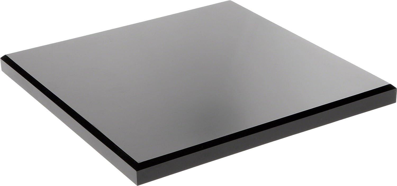 .75 H x 4 W x 4 D Plymor Brand Black Acrylic Square Beveled Display Base
