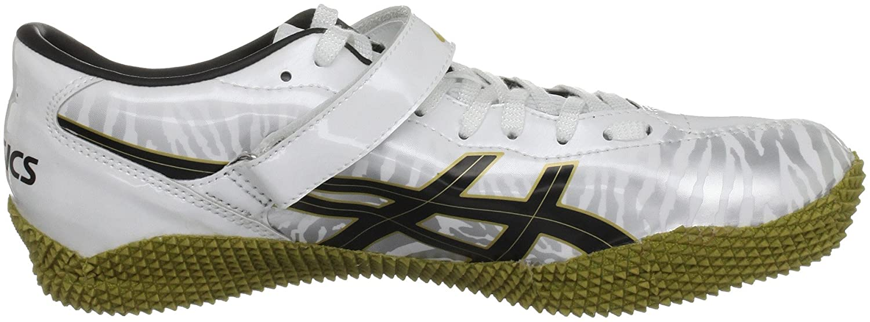 ASICS Unisex-Erwachsene Cyber High Jump London Sneaker weiß Bianco (White/Black/Gold)