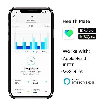 Withings Sleep - Sleep Tracking Pad Under The Mattress with Sleep Cycle  Analysis, Sleep Score & Sleep