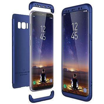 CE-Link Funda Samsung Galaxy S8, Carcasa Fundas para Samsung Galaxy S8, 3 en 1 Desmontable Ultra-Delgado Anti-Arañazos Case Protectora - Azul
