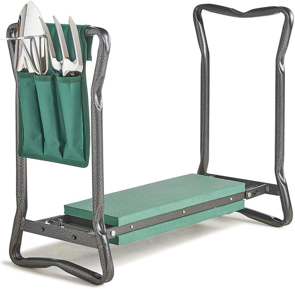 Kneeler e Seat Maniglie ergonomiche Lovela 3 in 1 Garden Kneeler e Seat Vano portaoggetti Robusto e Leggero