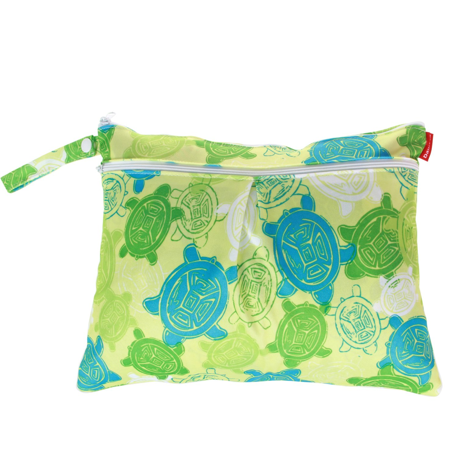 Damero 3pcs Pack Wet Dry Bag for Cloth Diapers Nappy Bag Daycare Organiser Bag Cute Owls