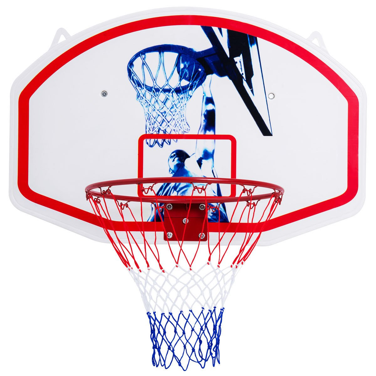 TNPSHOP 35'' x 24'' Wall Mounted Mini Basketball Hoop Backboard & Rim Combo Indoor Sports