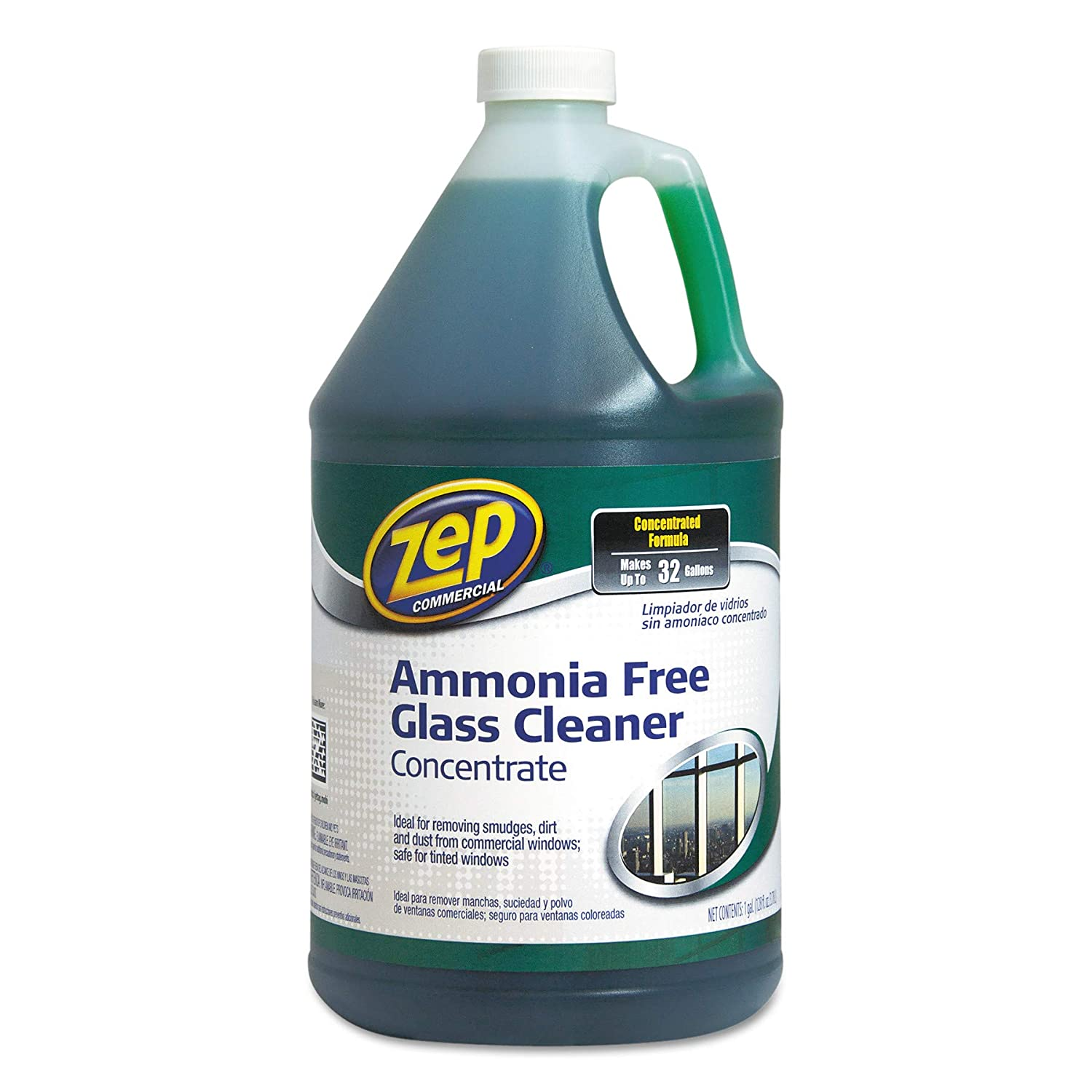 Zep Commercial ZU1052128 Ammonia Free Glass Cleaner, Agradable Scent, 1 gal Bottle by Zep Commercial B001B1AHI2