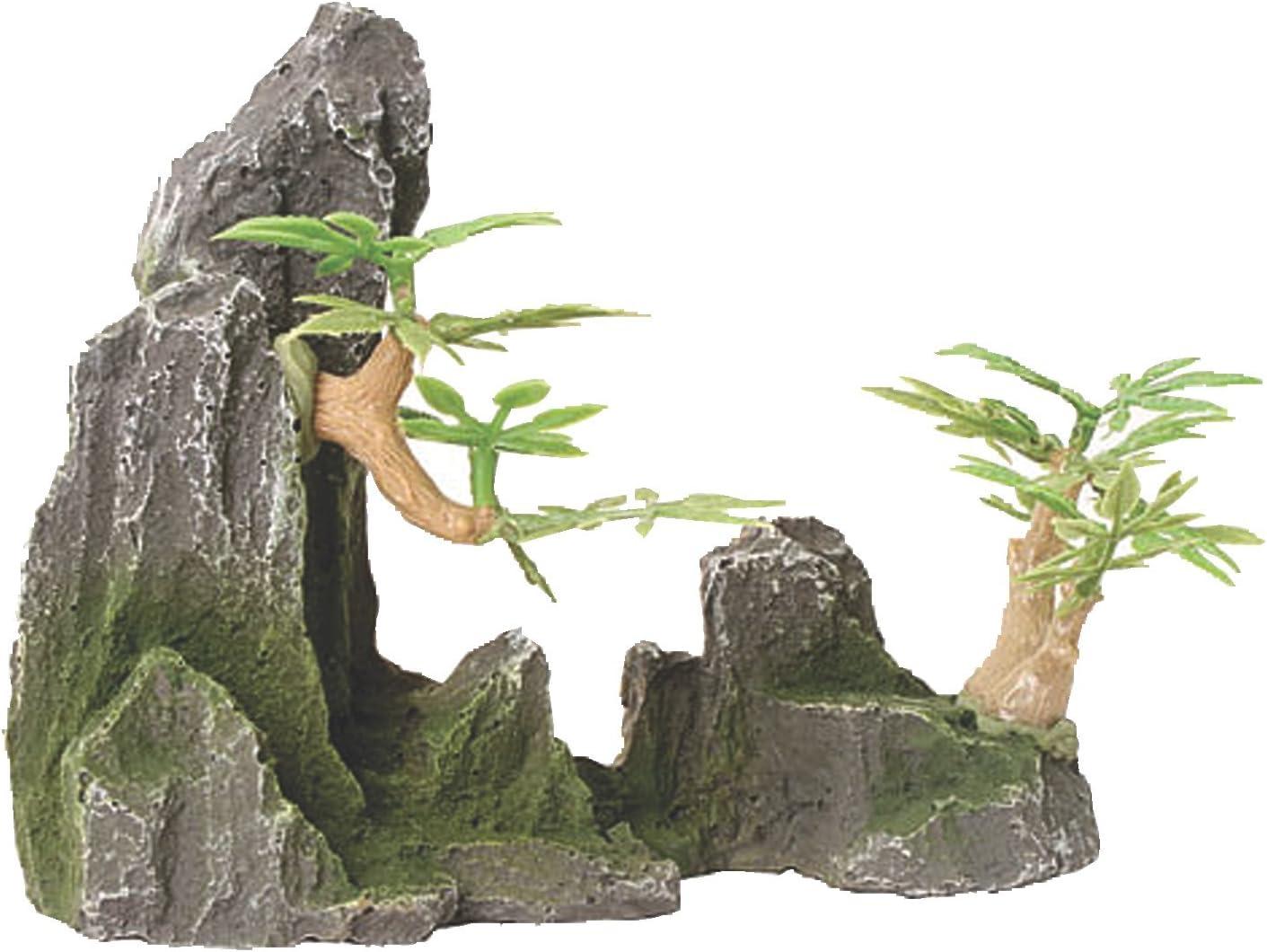 Amazon Com Design Elements Rock Canyon With Pagoda Aquarium Ornament Everything Else