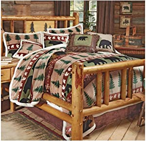 Black Forest Décor Rustic Country Western Bed Set - King Size Cabin Bedding