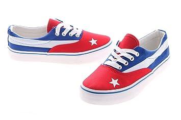 Baby Shoe Alma Model Van Cuba Flag Cuba Cuba Flag Uk Bianco Blu
