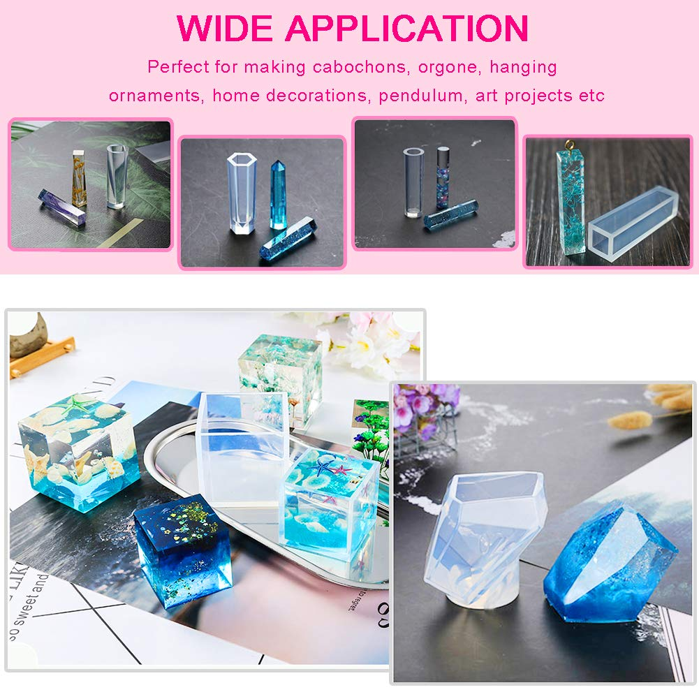 ZALALOVA 25Pcs Tumbler Resin Silicone Molds Perfect Partner to Cup Turner Tumbler Silicone Molds Cuptisseries DIY Water Glass Shape Perforated Keychain Resin Clay Molds Crafts Tools for Plaster