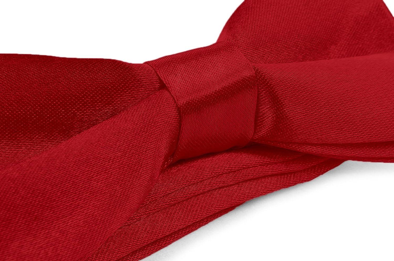 Boys Kids Adjustable Pre Tied 4x2 Satin Silk Bow Ties