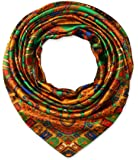 Women's Large Satin Square Silk Feeling Hair Scarf 35 x 35 inches Totem Bronze by corciova