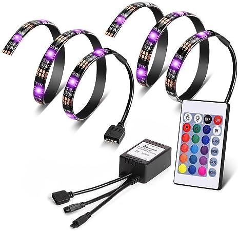2 M TV rétro-éclairage USB DEL Stripe Lumière Barre Bandes Télé rouge