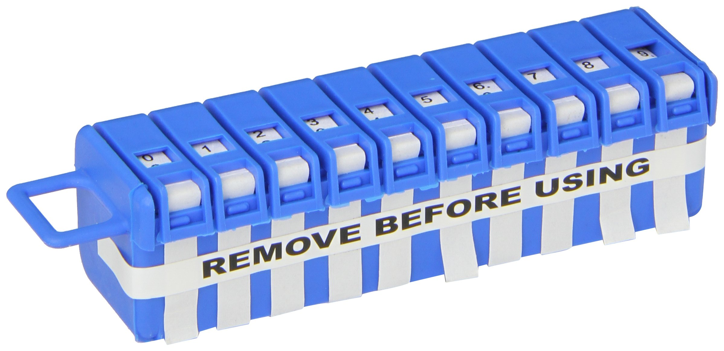 Hellermann Tyton WMTD0-9 Wire Marker Tape Dispenser And Labels, 0-9, White