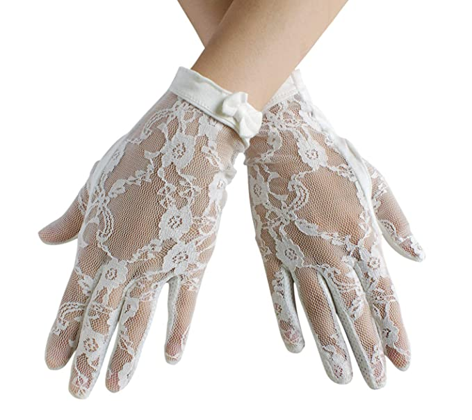 Vintage Gloves History- 1900, 1910, 1920, 1930 1940, 1950, 1960 Urban CoCo Vintage Spring and Summer Womens Lace Cotton Short Gloves $8.99 AT vintagedancer.com
