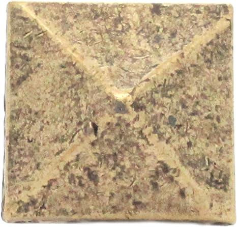 "Black Smith Pewter Pyramid Concho Antique Brass 1/"" 7447-12"