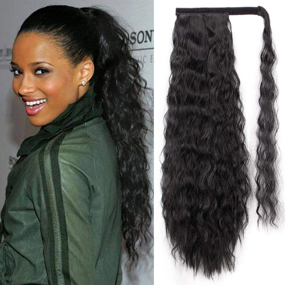 Amazon Com Stamped Glorious 22 Inch Wavy Ponytail Extension
