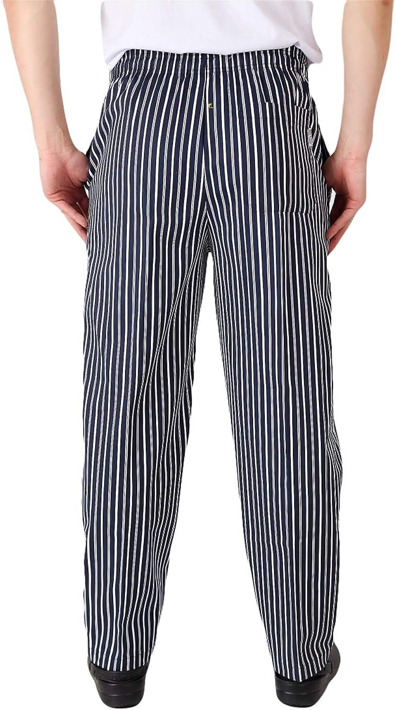 Insun Hombre Pantalones De Cocinero Pantalon Elastico Para Chef Cocinero Trabajo Pantalones Pantalones De Cocinero