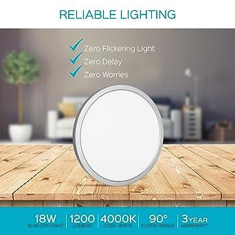 Amazon.com: Luxrite - Lámpara de techo de 9 pulgadas, LED ...