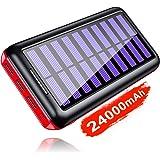 KEDRON Power Bank Solar 24000mAh 3 Puertos de Salida y Entrada Doble Cargador Móvil Portátil Batería Externa para Tablet…