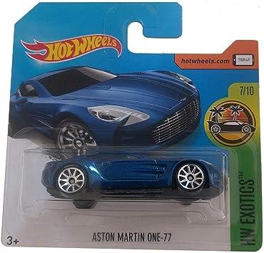 Hot Wheels Aston Martin One 77 Hw Exotics 287 365 Blue On Short Card Amazon De Spielzeug