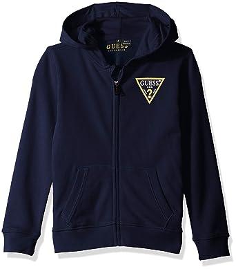91d0e3842 Amazon.com  GUESS Boy s Fleece-Knit Zip Hoodie (2-7)  Clothing