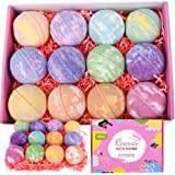 Rosevale Bath Bombs Gift Set,12 Large 5oz Bubble Bath Fizzies,Shea & Coco Butter Dry Skin Moisturize,Perfect for Bubble & Spa