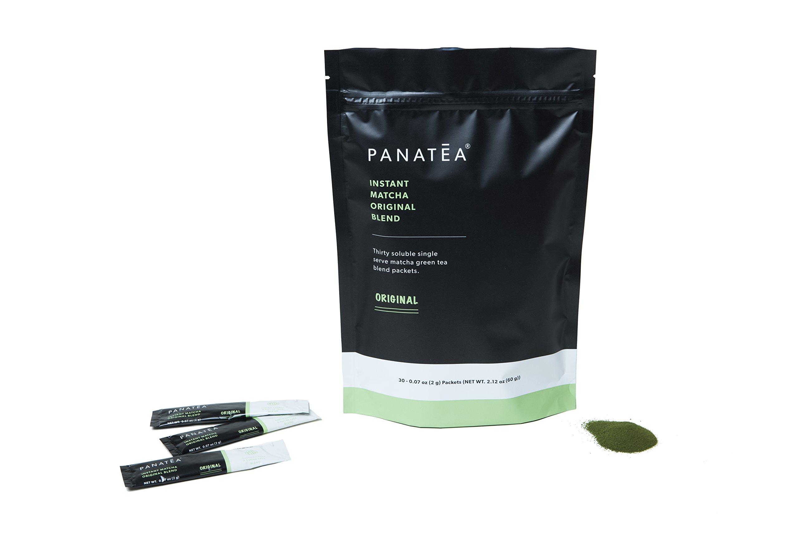 PANATEA Instant Matcha Packets Ceremonial Grade Green Tea Powder Single Serving Matcha On The Go Travel Packs (30 Unit Bag)