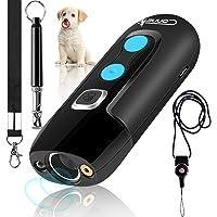 Sonic Dog Bark Control Fenteer Dog Anti Barking Device USB Rechargeable Sonic Bark Deterrents Bark Controller Indoor /& Outdoor Use 25 Ft Range Safe for Dogs