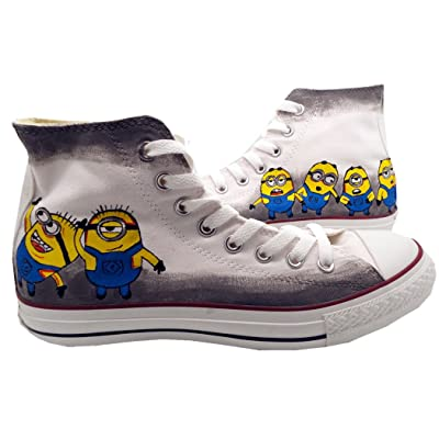 Custom Anime Despicable Me Minion High-top Shoes Sneakers for Women Men