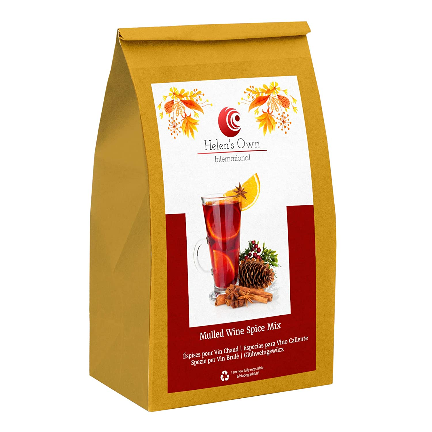 German Mulled Wine Spice Mix Gluhwein - Mulling Spices - 20 x 0.5Oz Sachets / 20 x 1.5g Sachets - Glühwein Gewürz by Meßmer - Sold by Helen's Own - with Full English Recipe Booklet