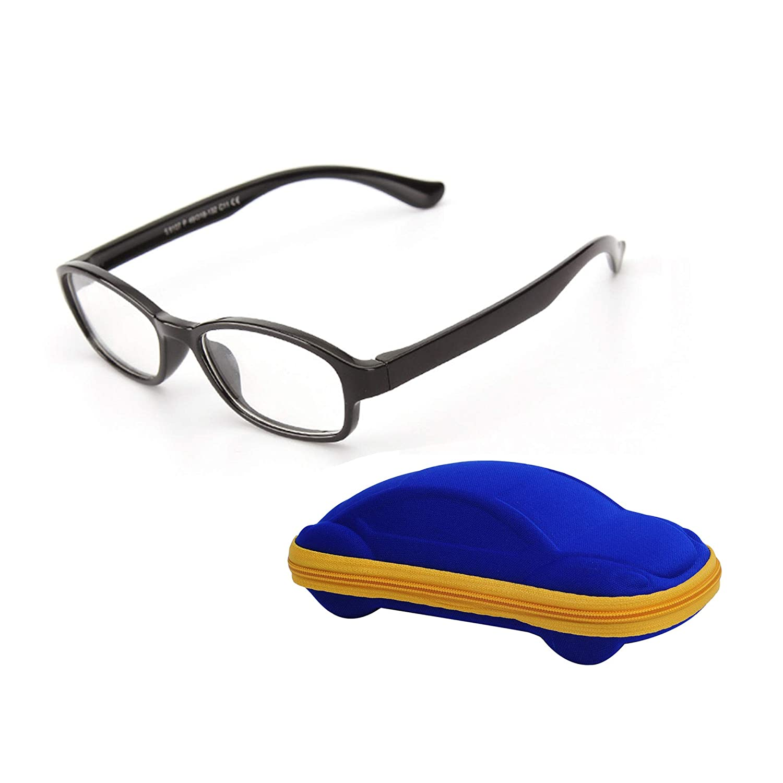 Kids Glasses Non Prescription Frame Clear Lens Girls Boys +Case +Cleaning Cloth JoXiGo