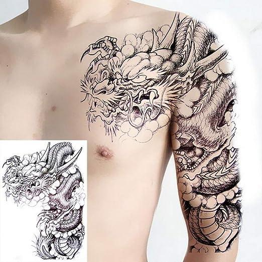 Handaxian 3pcs Tatuaje patrón Pecho Hombres y Mujeres Hombro ...