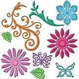 S'épanouit et spellbinders Shapeabilities Dies-bijou fleurs