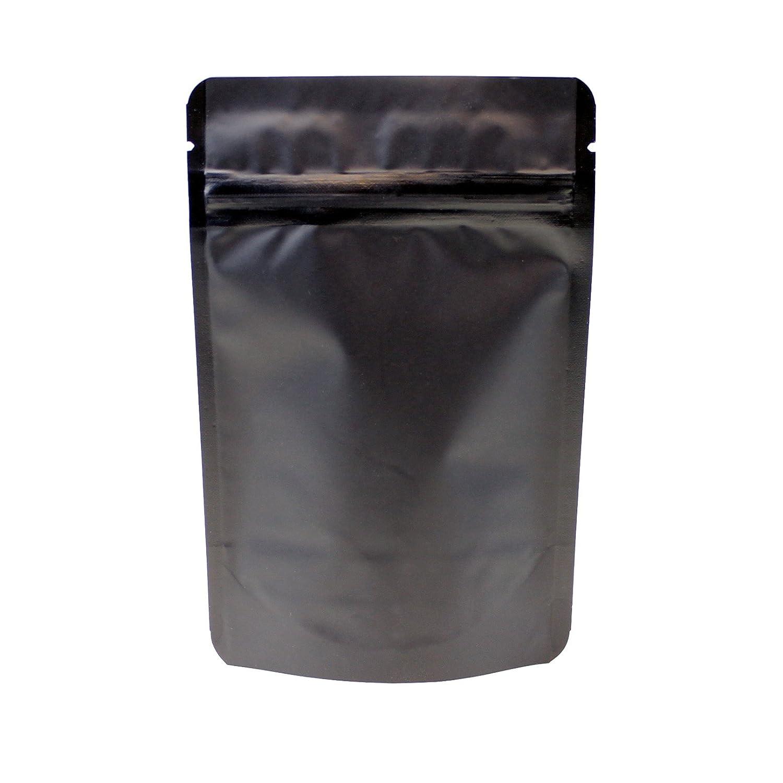 awepackage 2 oz Stand Upファスナーポーチバッグ – FDA USDA準拠Heavyバリア4 x 6 x 2インチ ブラック B075ZXV4TF マットブラック|50 マットブラック
