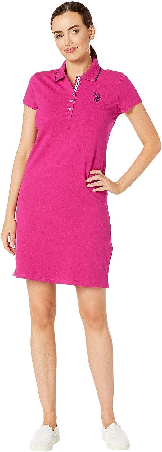 U.S. Polo Assn. Womens Plain Polo Dress Le Rouge Large: Amazon.es ...