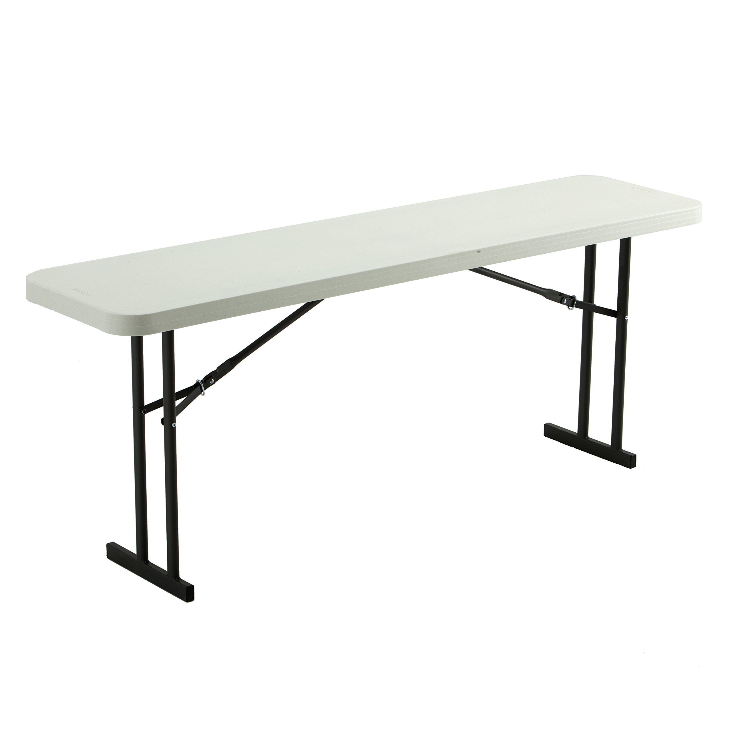 Lifetime 80176 Folding Conference Training Table, 6', White Granite by Lifetime