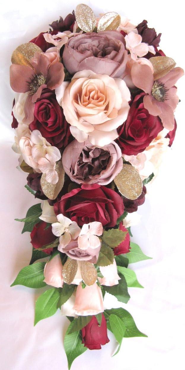 30 Ivory Glittered Foam Roses for Wedding Bridal Artificial Silk Glitter Flowers