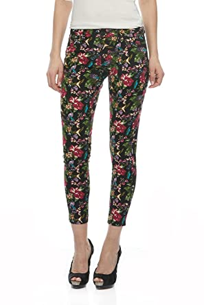 Suko Jeans Women s Ankle Skinny All Over Print Denim Jeans 18094SW  Rainforest 4 1ac24fc67d