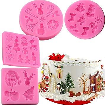 4 Stücke 3D Weihnachten Serie Cookie Keks Ausstecher Form Fondant Kuchen