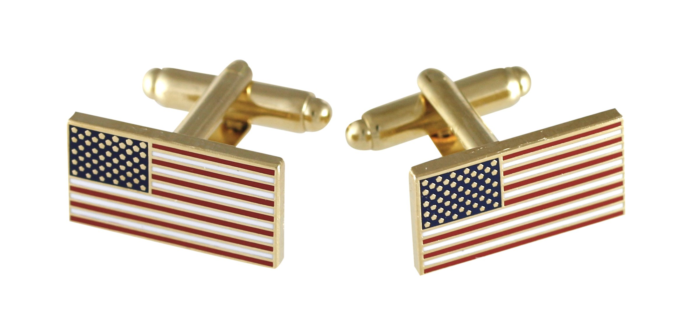Official American Flag Cufflinks (5 Sets Gold)