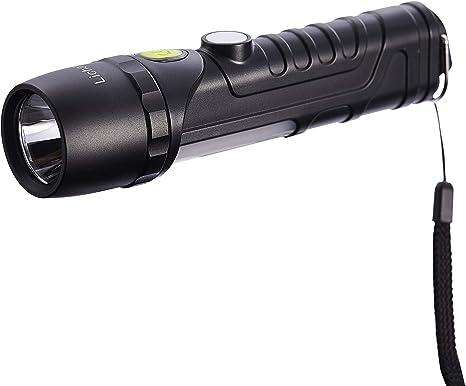 Led Flashlight 90 Degree Rotary IP65 USB Battery Outdoor Magnet Torch Lamp Light