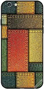 حافظة لهاتف آيفون 6 - نمط جينز متعدد الألوان