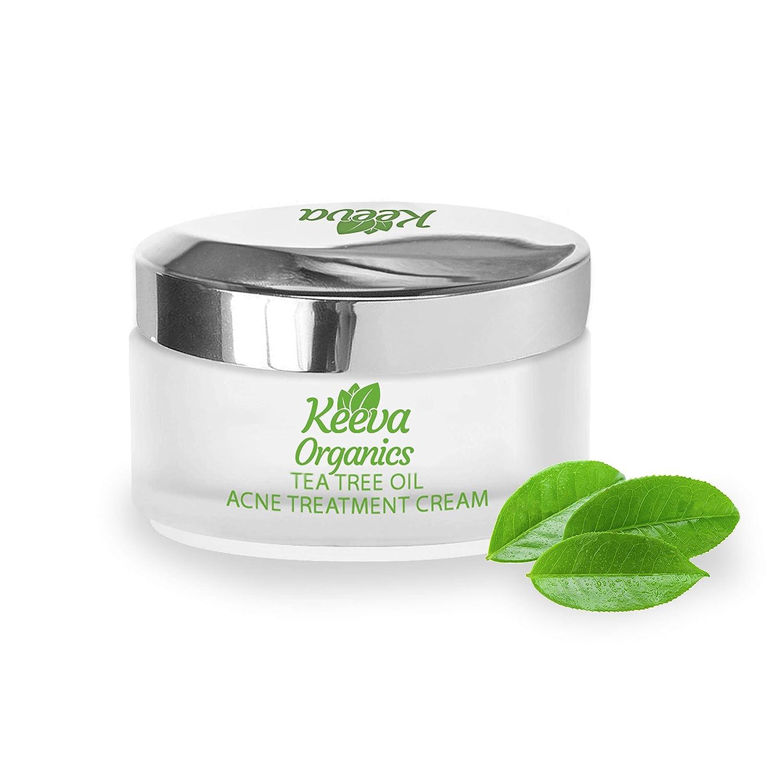 Amazon Com Keeva Organics Tea Tree Oil Acne Treatment Cream With