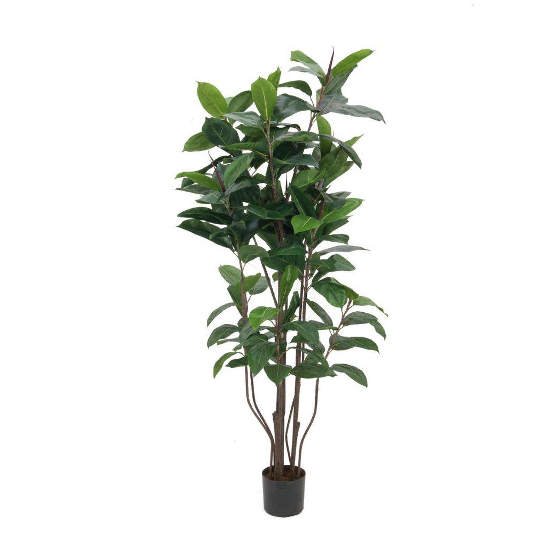 Artplants - Künstlicher Gummibaum Gummibaum Gummibaum mit 145 Blättern, 9-stämmig, 150 cm - Kunst Zimmerpflanze Deko Baum f0f12c