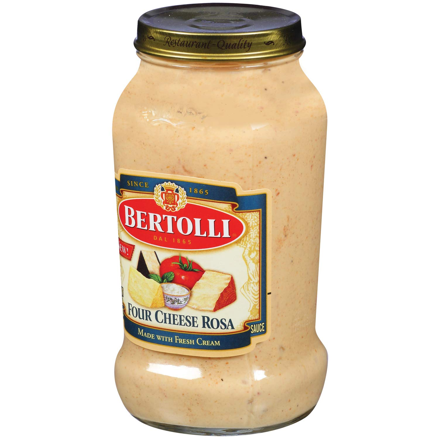 Bertolli Four Cheese Rosa Pasta Sauce 15oz (2 count) (Pack of 1)