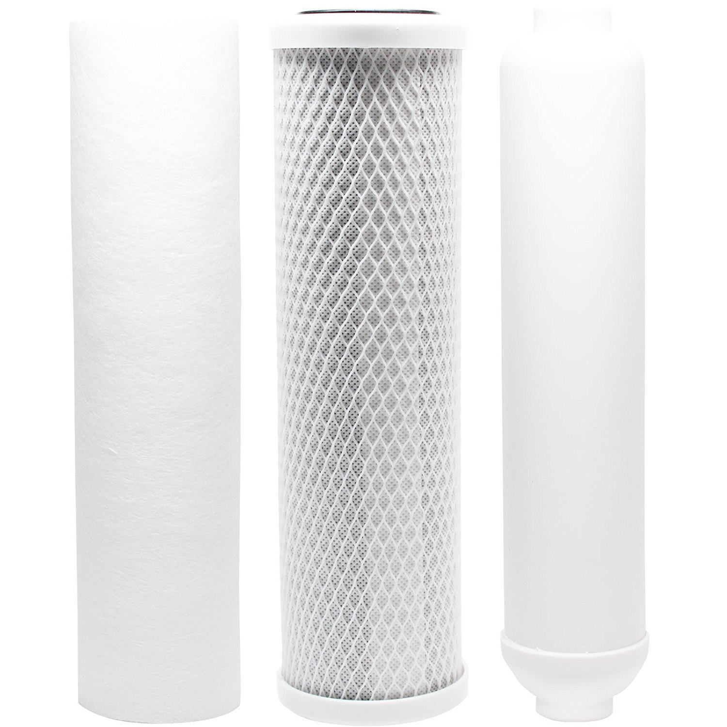 Replacement Filter Kit for Vertex PT 4.0 RO System - Includes Carbon Block Filter, PP Sediment Filter & Inline Filter Cartridge by CFS