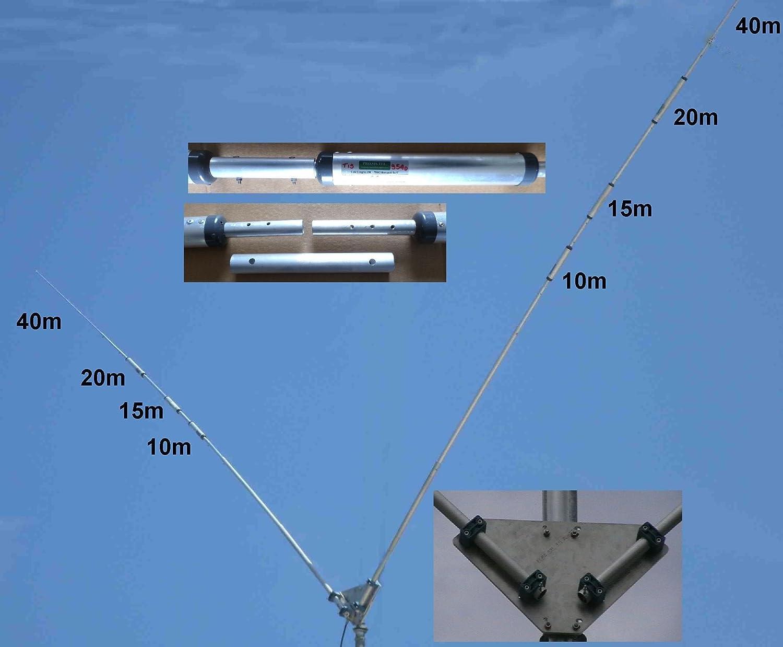 Dipolo multibanda trappolato prosistel 10 – 15 – 20 – 40 m, pst-1524tv