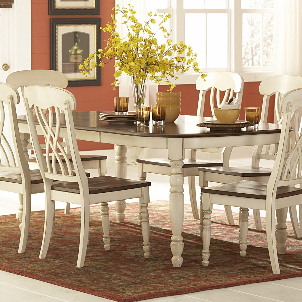 Amazon.com - Weston Home Ohana Dining Table with Leaf - Tables