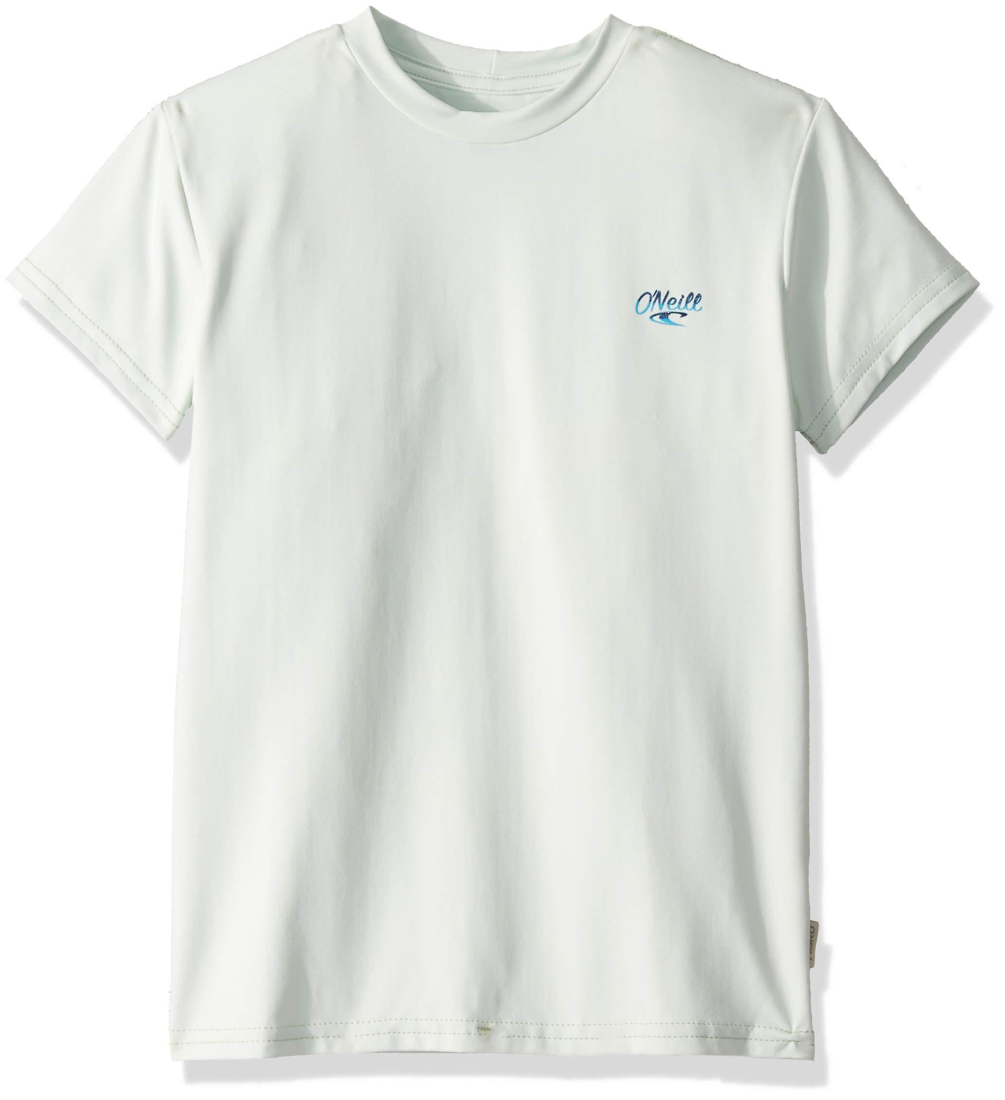 O'Neill Wetsuits Girl's Premium Skins Short Sleeve Sun Shirt, Fresh Mint, Size 8 by O'Neill Wetsuits