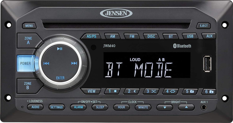 Jensen JWM40 DVD/USB/AUX/BT Stereo