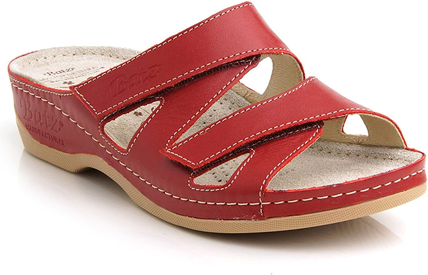 BATZ ENI Handmade Leather Womens Ladies Slip-on Sandals Clogs Mules